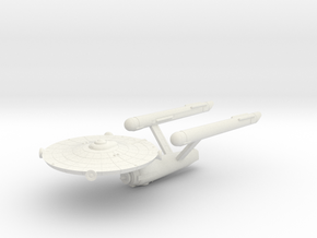 3788 Scale Federation Galactic Survey Cruiser WEM in White Natural Versatile Plastic