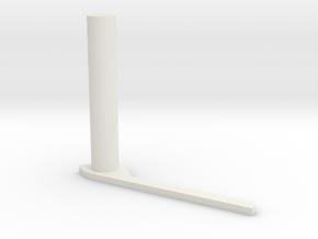 RA guide Finger Mirror in White Natural Versatile Plastic