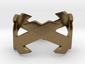 CrssWave Thick Ring in Natural Bronze: 4 / 46.5