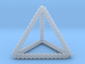 Twisted Tetrahedron LH in Smooth Fine Detail Plastic