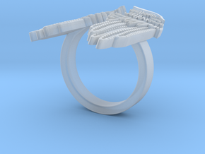 Angel Wings - Ring in Smoothest Fine Detail Plastic