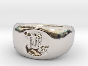 Scorpio Ring sz8 in Rhodium Plated Brass