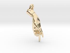 Hamsasyam Mudra Pendant/ Charm (Open) 2.5cm in 14k Gold Plated Brass