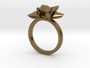 Gift Bow Ring in Polished Bronze: 6 / 51.5