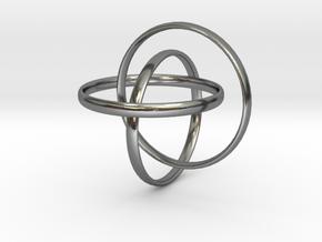 Interlocking rings in Polished Silver (Interlocking Parts)