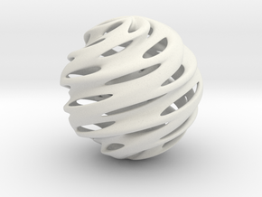 Warp Orb in White Natural Versatile Plastic