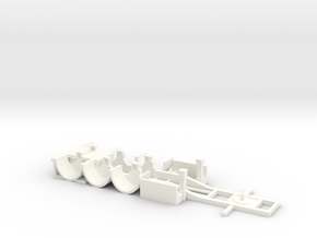 tank container chassis trailer 1-87 HO scale in White Processed Versatile Plastic