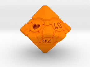 Companion Cube 10D10 (decader) - Portal Dice in Orange Processed Versatile Plastic: Small