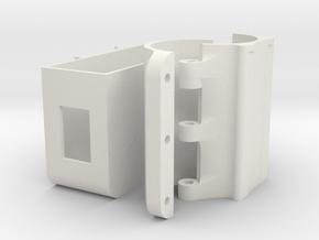 Wifi holder (mount) for TP-LINK TL-WR902AC for #Ka in White Natural Versatile Plastic