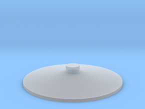 "'HO Sclae' - Storage Tank Top - 3/4"" PVC w/o Raili in Smooth Fine Detail Plastic"