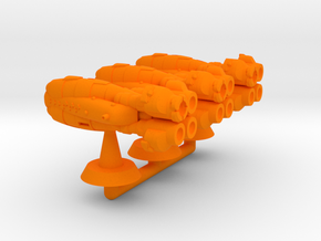 Achille Class Strike Cruiser - 1:20000 in Orange Processed Versatile Plastic
