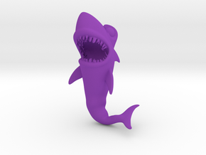 Shark in Purple Processed Versatile Plastic