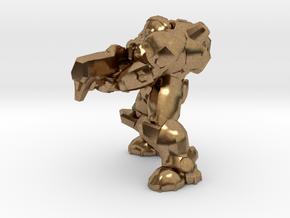 terran marine shooting 28mm heroic scale miniature in Natural Brass