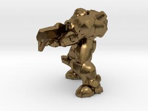 terran marine shooting 28mm heroic scale miniature in Natural Bronze