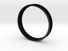 INGRANAGGI Bangle BOLD 1cm_zigrinatura thin in Matte Black Steel