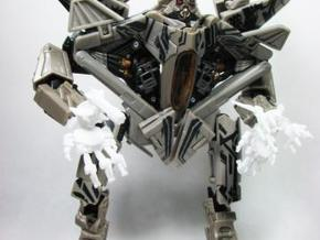 ROTF voyager Starscream poseable hands in White Natural Versatile Plastic