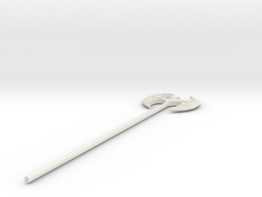 Fancy Battleaxe in White Natural Versatile Plastic