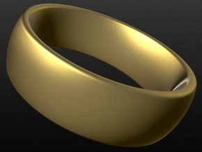 Wedding ring for female 17mm in 18k Gold Plated Brass