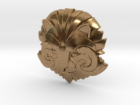 Medallion of Courage in Natural Brass