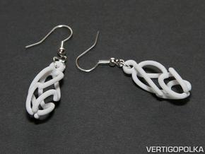 Swing Earrings in White Natural Versatile Plastic