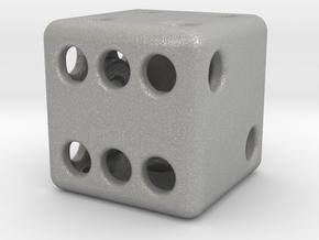 Balanced Hollow Dice (D6) (1.5cm) (Method 1) in Aluminum