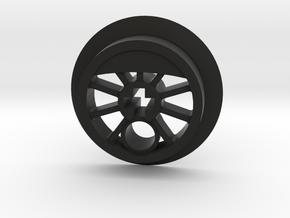 Medium Small Flanged Driver with Pin Hole in Black Premium Versatile Plastic