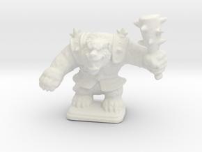 HeroQuest Polar War Bear 28mm miniature in White Natural Versatile Plastic