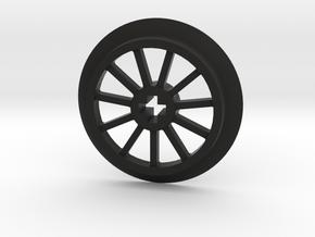 Medium sized Train Wheel in Black Premium Versatile Plastic