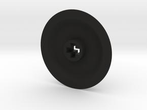 Medium-Small Thin Wheel - Solid in Black Natural Versatile Plastic