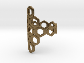 Bee Square 3T Ring in Natural Bronze: 4 / 46.5