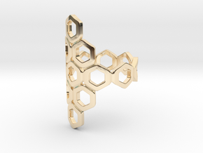 Bee Square 3T Ring in 14k Gold Plated Brass: 4 / 46.5