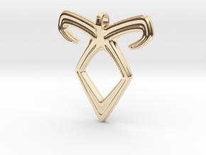 Angelic Power Pendant in 14K Yellow Gold