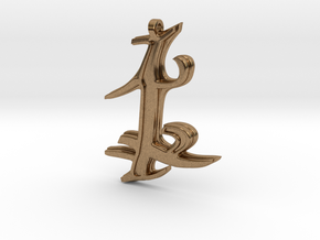 Parabatai Rune Pendant  in Natural Brass