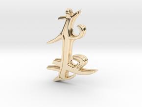 Parabatai Rune Pendant  in 14k Gold Plated Brass