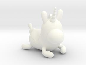 Sitting Balloonicorn in White Processed Versatile Plastic