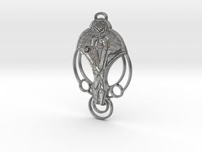 For Cardassia Festoon Pendant in Natural Silver