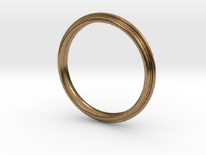 PNEUS Bangle in Natural Brass