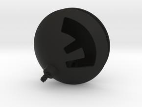 F-Bomb Pendant in Black Natural Versatile Plastic