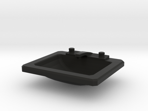 'Beginner Basic' Drop-in Bathroom Sink 1:12 Dollho in Black Natural Versatile Plastic
