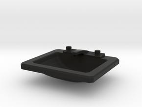 'Beginner Basic' Drop-in Bathroom Sink 1:12 Dollho in Black Natural Versatile Plastic