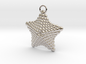 Sphere Starfish Pendant in Rhodium Plated Brass