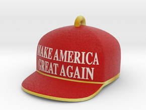 Trump Make America Great Again Red Hat Ornament 17 in Full Color Sandstone