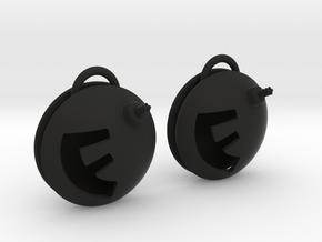 F-Bomb earrings in Black Natural Versatile Plastic