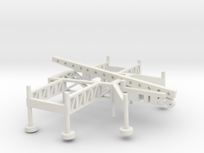 1/100 Scale Nike Missile Launch Pad in White Natural Versatile Plastic