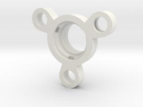 R-type Crystal Holder v2 in White Natural Versatile Plastic