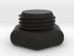 SCUBA - DIN Tank Dust Cap in Black Natural Versatile Plastic