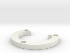R-type 66 Round Sharp in White Natural Versatile Plastic