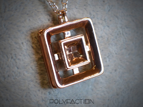 Origin ::: Square Pendant ::: v.01 in 14k Rose Gold Plated Brass