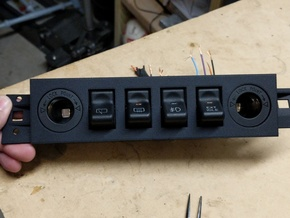 97-01 Jeep Cherokee XJ Police Package Switch Panel in Black Natural Versatile Plastic