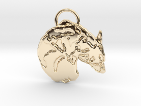 Corgi Croissant (with ring ) in 14K Yellow Gold